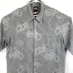 Harley Davidson Silk (S) Button Front Shirt Motorc